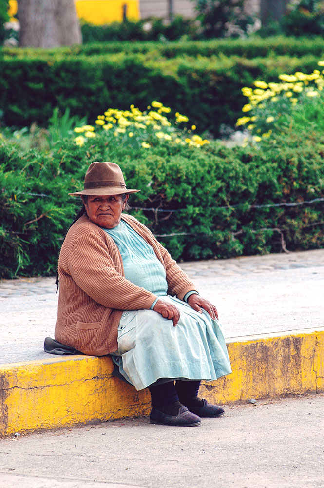 AREQUIPA, PERU - FEBRUARY 04: Unidentified local on the main pla