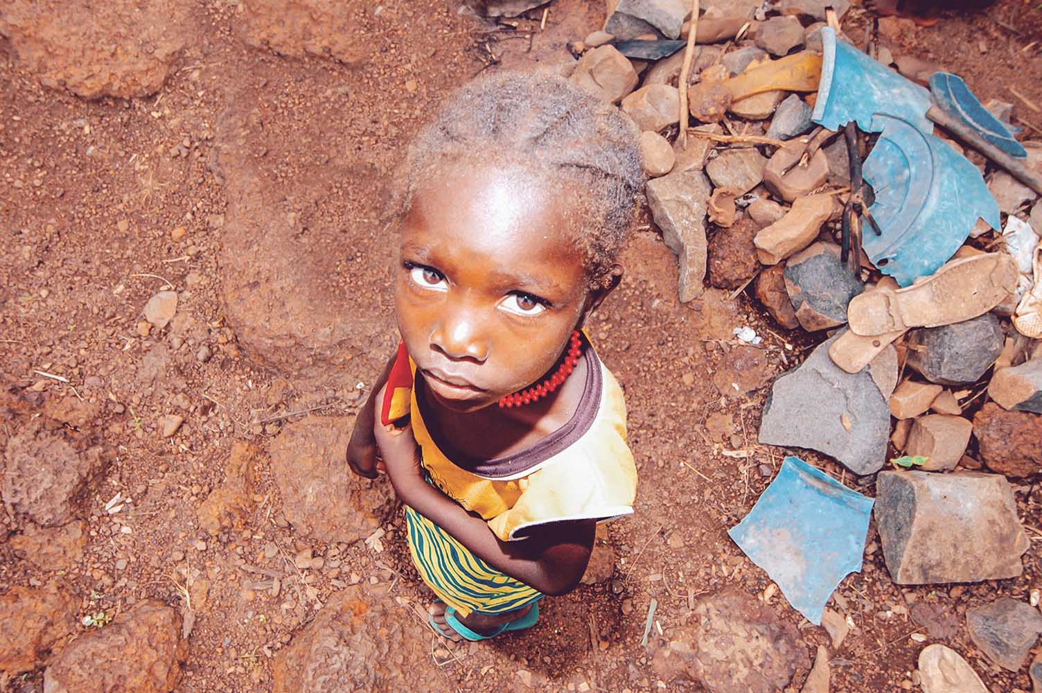 SENEGAL - SEPTEMBER 17: Little girl from the Bedic ethnicity, th