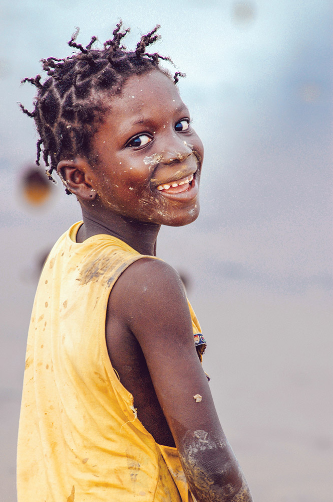SENEGAL - SEPTEMBER 17: Little girl from the island of Carabane