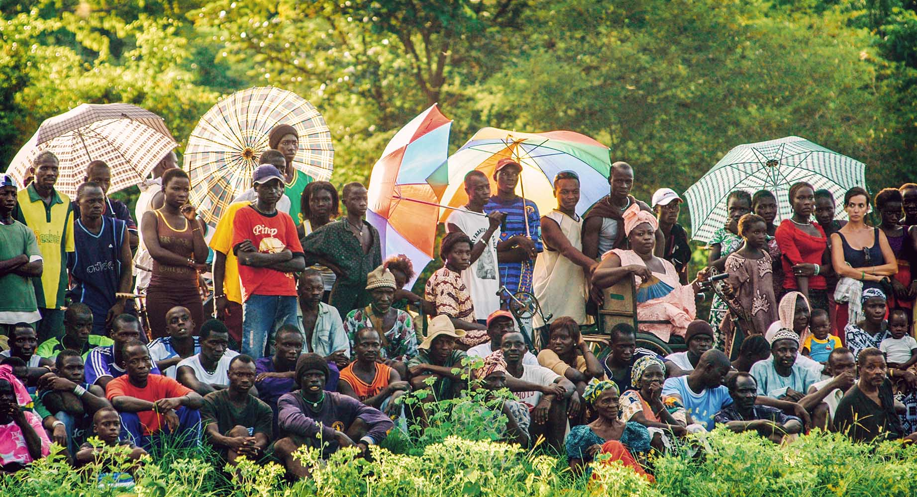SENEGAL - SEPTEMBER 19: Spectators watching the traditional stru