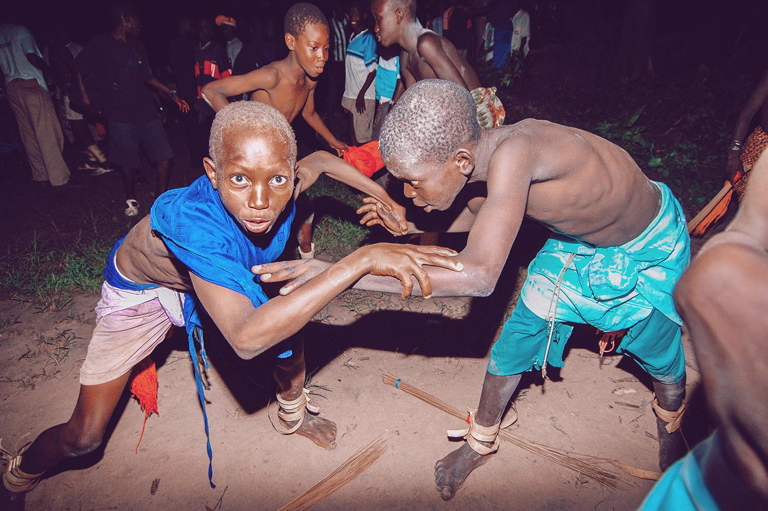 SENEGAL - SEPTEMBER 19: Kids in the traditional struggle (wrestl