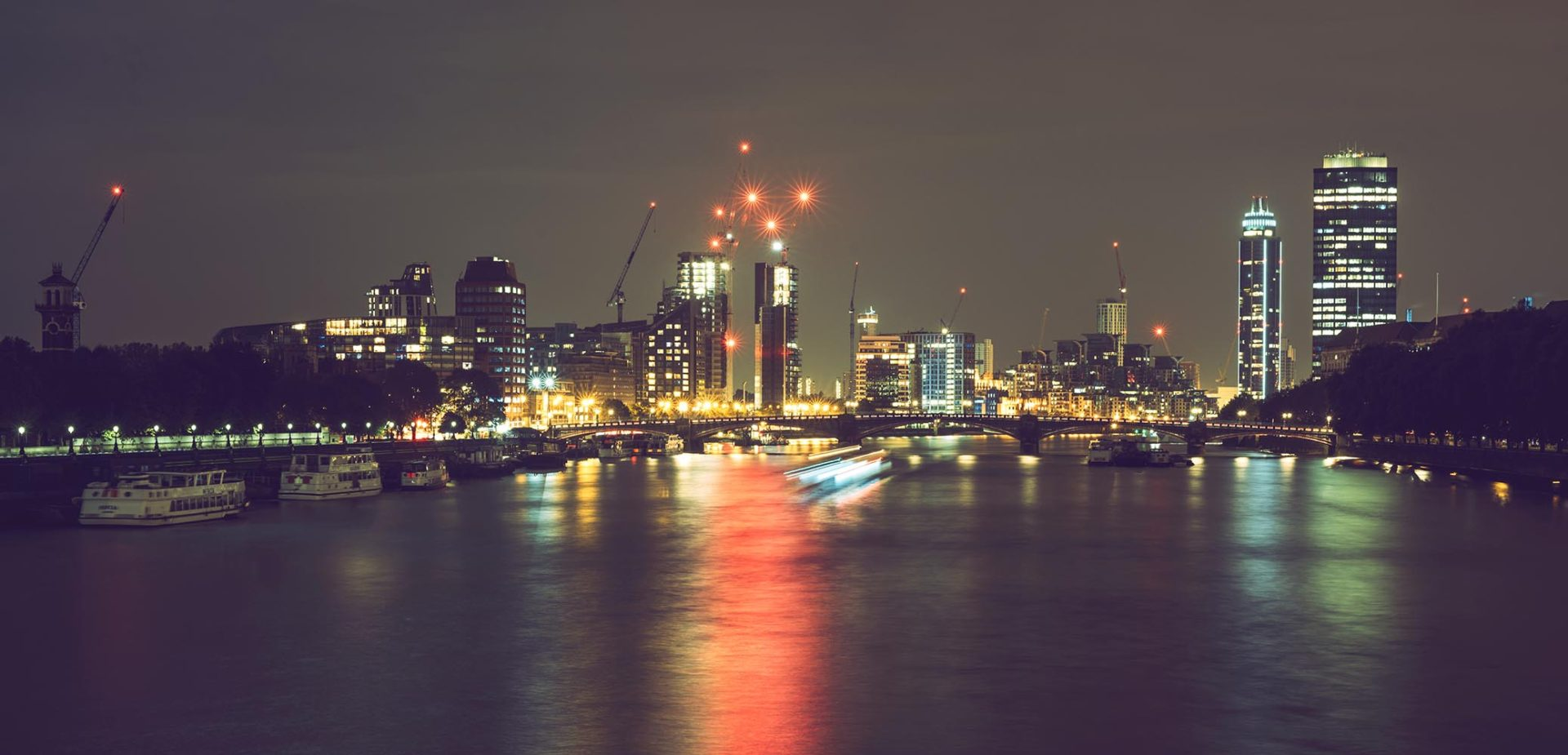 The skyline of London