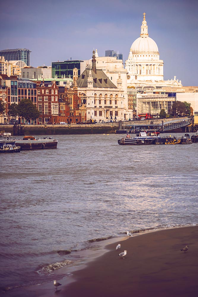 View of Thames near St. Paul Cathedral