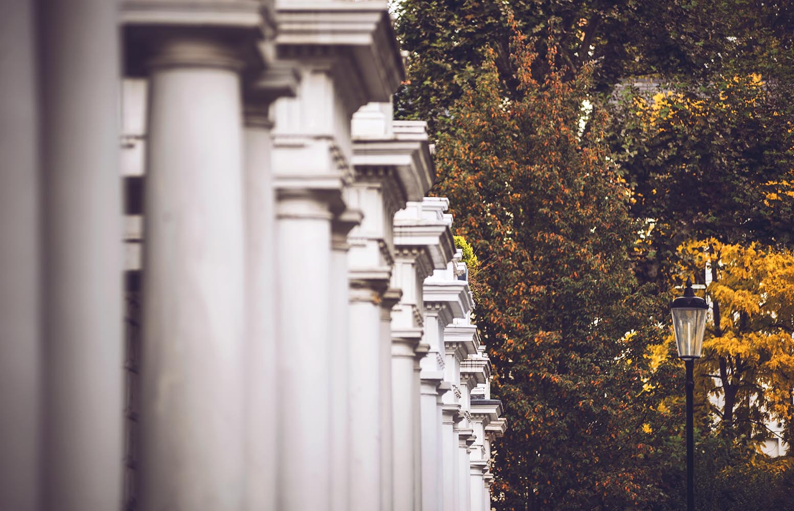Row of white columns