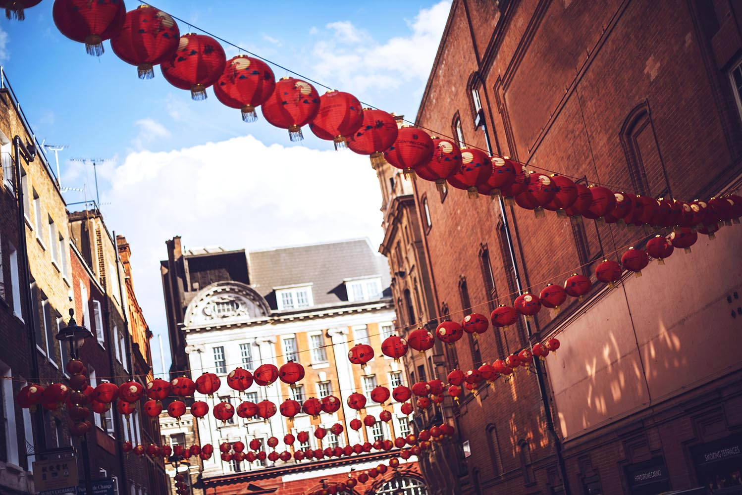 Paper lanterns at Chinatown