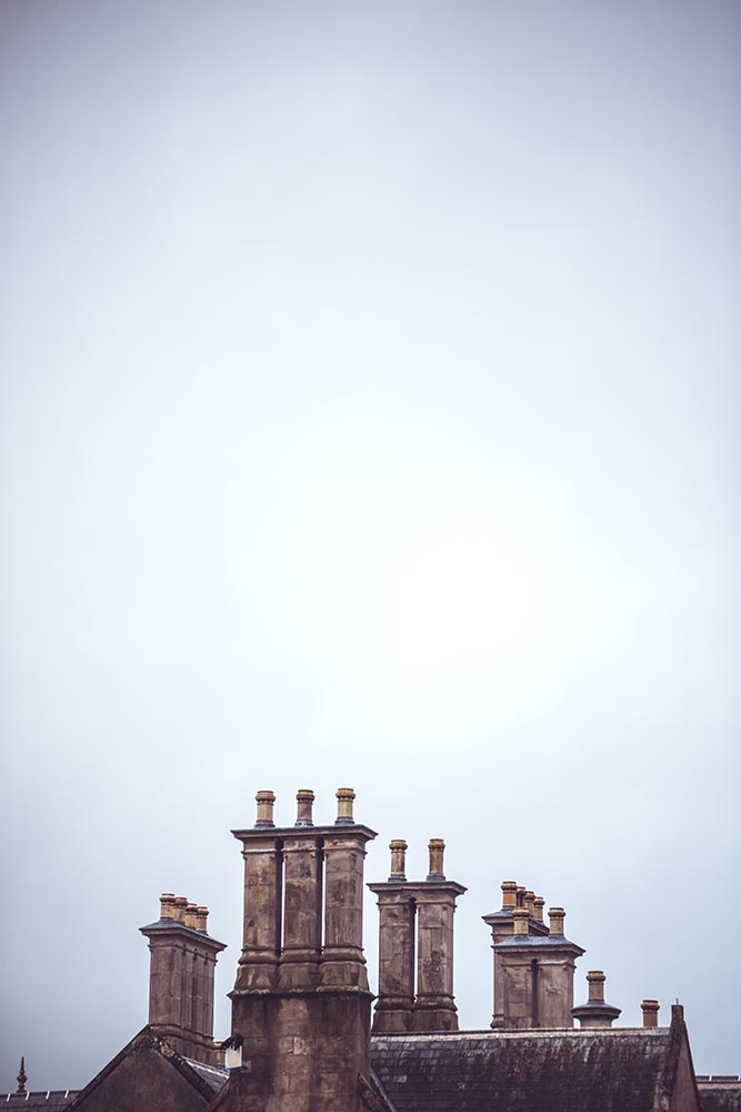 Chimneys and roof