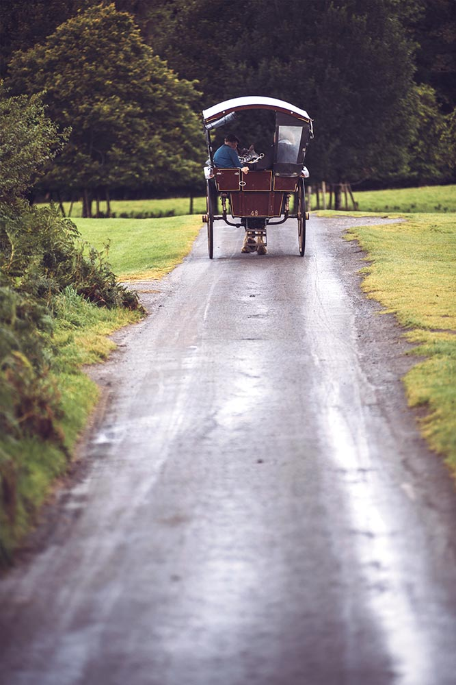 Carriage on rural road