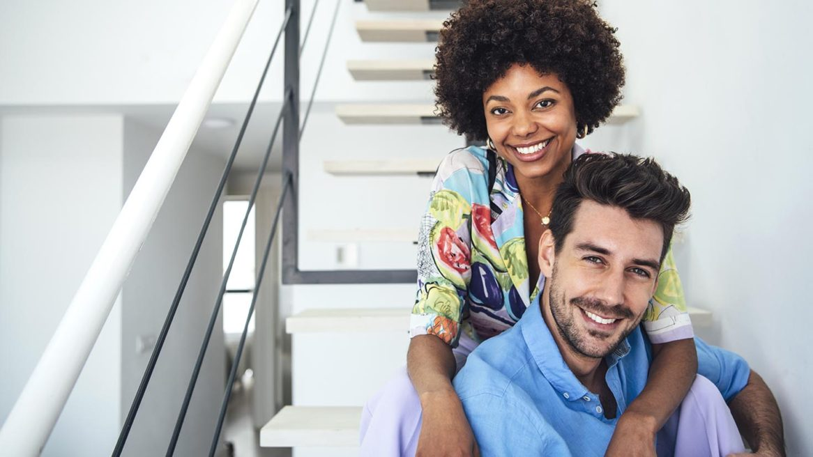 COUPLE IN PENTHOUSE