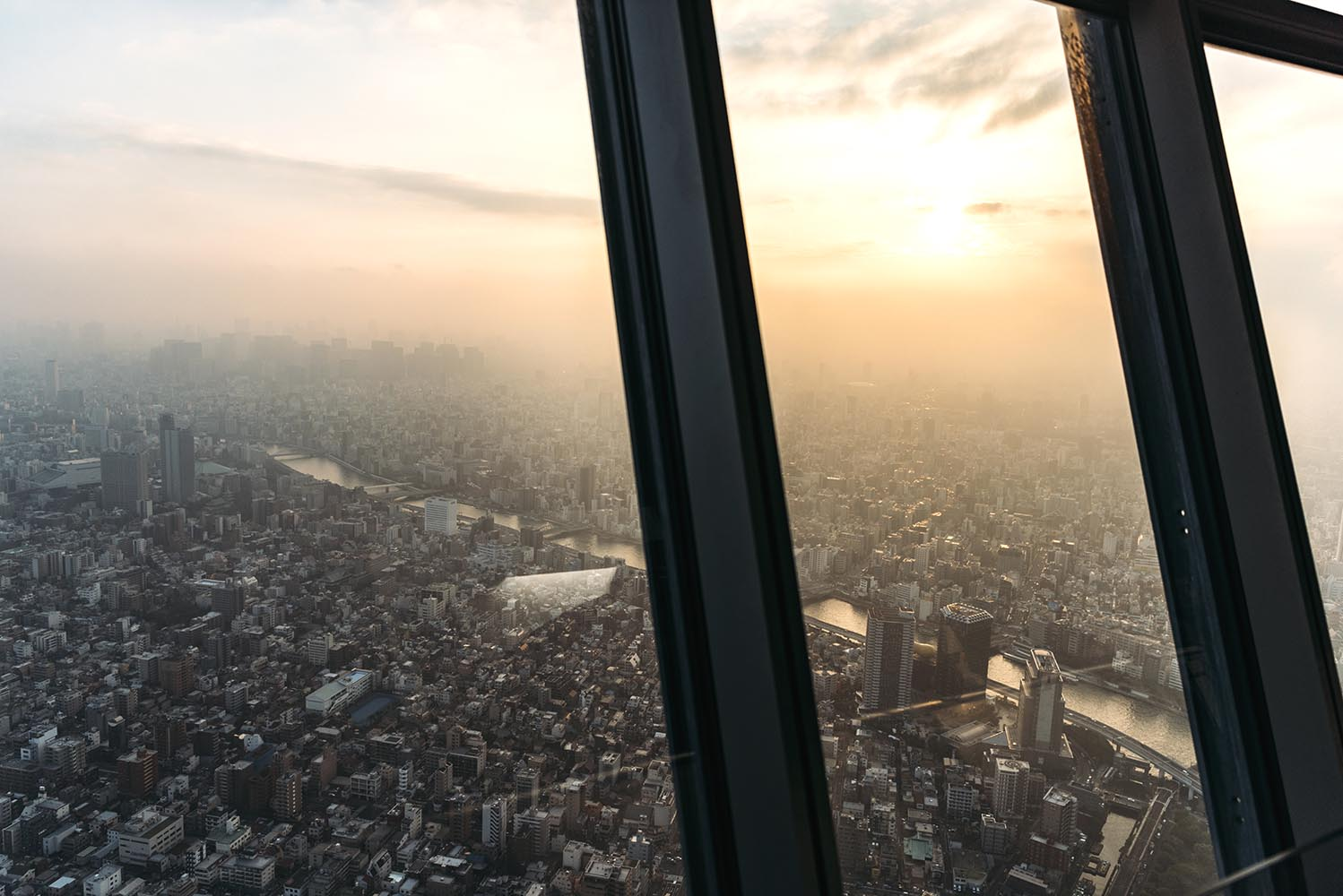 View from Tokyo Skytree at sunset, Tokyo, Japan
