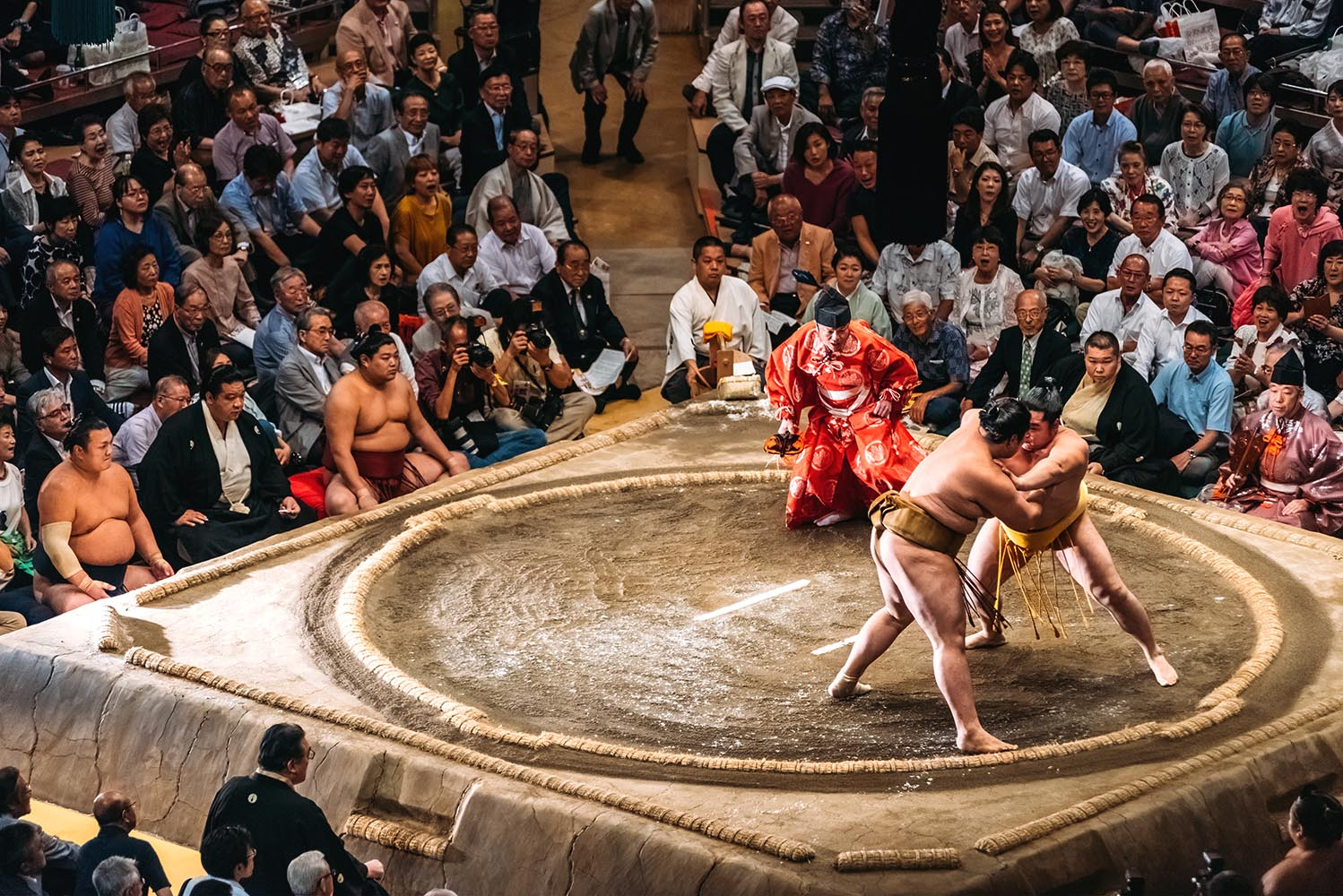 Arena for traditional Sumo wrestling in Tokyo, Japan