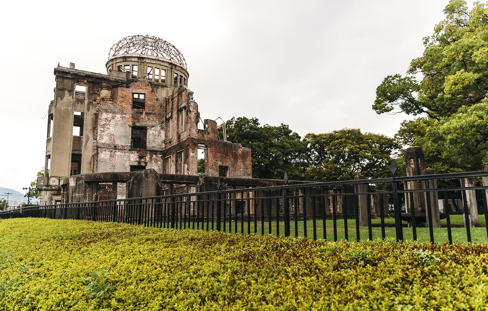 The Atomic Bomb dome, one of the few buildings left standing aft