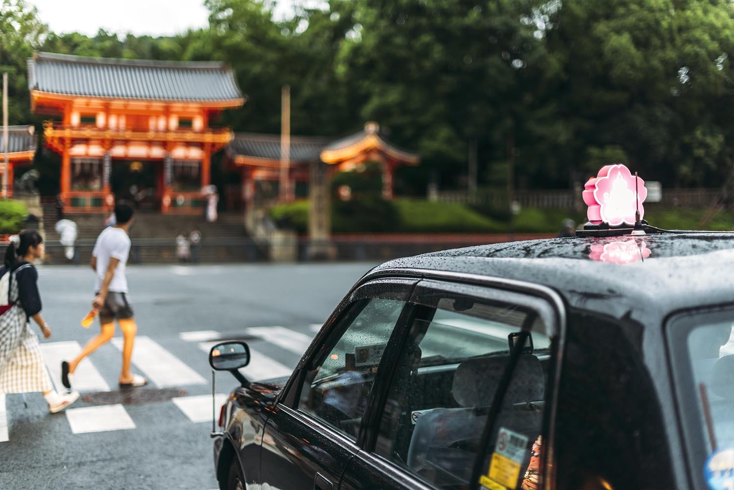 Streets of Kyoto in a rainy day, Japan